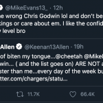 Mike Evans Dunked on Keenan Allen, Is Also Better WR Than Keenan Allen